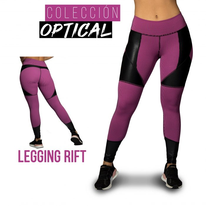 Optical legging fucsia Rift Talla L