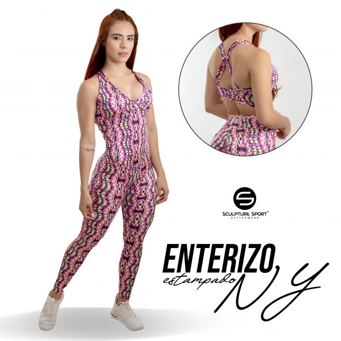 Enterizo LARGO NY Y ESTAMPADO Rojo